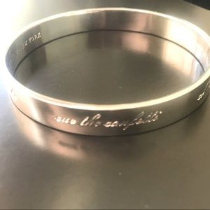 kate spade silver Happily Ever After bride bangle